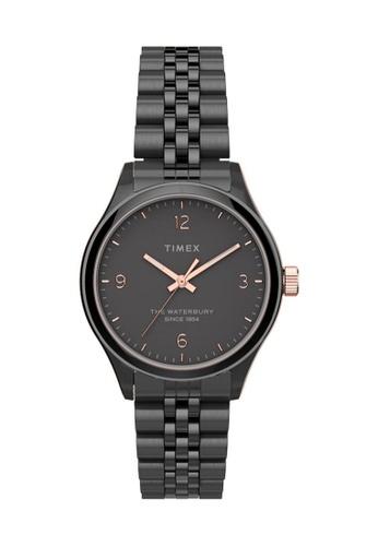TIMEX black Timex Waterbury Traditional 34mm - Black Case & Bracelet (TW2T74900) 391EAAC4302272GS_1