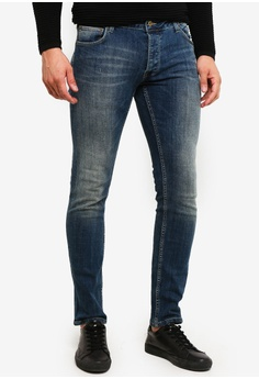 7f5d8de1853a !Solid blue Joy Bi-Stretch Slim Fit Jeans 0B5F1AAEA44B83GS 1