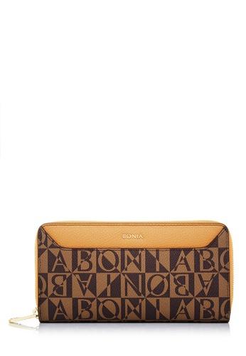 BONIA orange Orange Monogram Annelise Long Zipper Wallet E1D4FACC3D5189GS_1