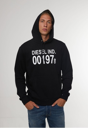 Diesel black S-GIRK-HOOD FELPA HOODIE 111E5AAC53C549GS_1