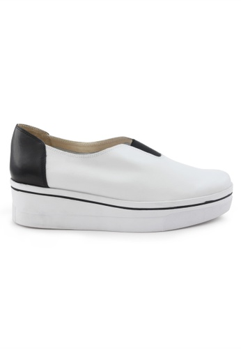 Shu Talk white Causal Calf Leather Platform Sneaker SH617SH2VITUHK_1