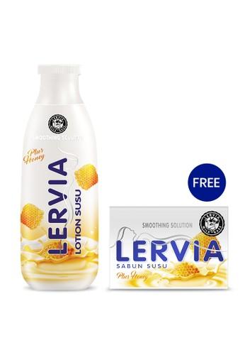 LERVIA n/a LERVIA Lotion Susu Plus Honey 200mL + 30mL Free Sabun Susu 90g 602CAES17DED9AGS_1