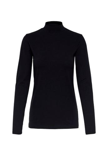 JACQUELINE DE YONG black Ava Long Sleeve Top 1807AAAA0ECE9BGS_1