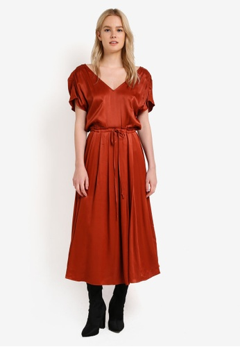 Free People brown Love And Feeling Midi Dress FR659AA0RH6TMY_1
