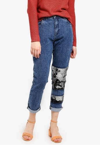 Cotton On blue High Rise 90S Stretch Jeans D3DDAAA3016E1EGS_1
