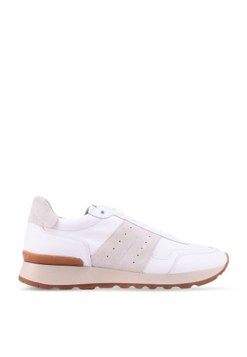 Selected Homme white FRANK Suede Runner Shoes 26441SHE0AD008GS_1