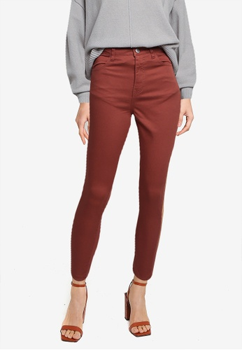 LOWRYS FARM brown Cropped Skinny Jeans 74CC4AA69A4BC2GS_1