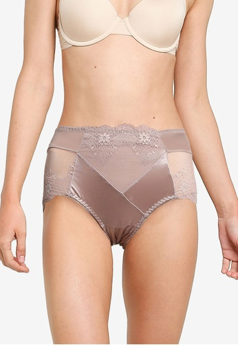 Impression brown Maxi Lace Panties 671F9US50DD342GS_1
