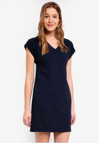 Dorothy Perkins navy Navy Zip Pocket Shift Dress EB612AA3A1EFFCGS_1