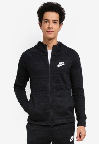 Nike black and white Men's Nike Sportswear Advance 15 Jacket NI126AA0STVCMY_1