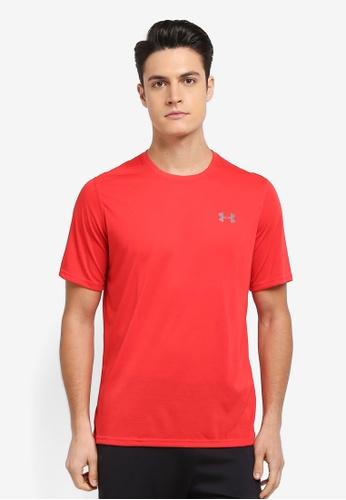 Under Armour red UA Threadborne T-Shirt UN337AA0SU2RMY_1