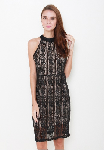 Leline Style black Etta Lace Dress LE802AA52IQPSG_1