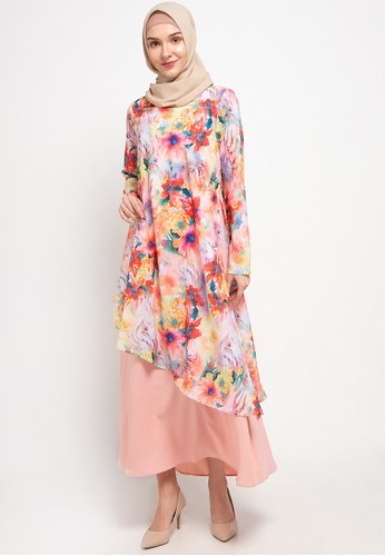 AZZAR pink Alba Maxi Dress 1372CAA2BDB575GS_1