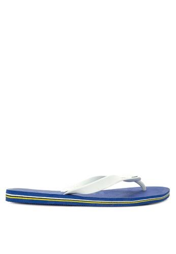 Dupe white and blue Brasil Flip Flops DU626SH0IOG7PH_1