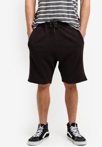 Cotton On 黑色 彈性抽繩短褲 CO372AA07JQUMY_1