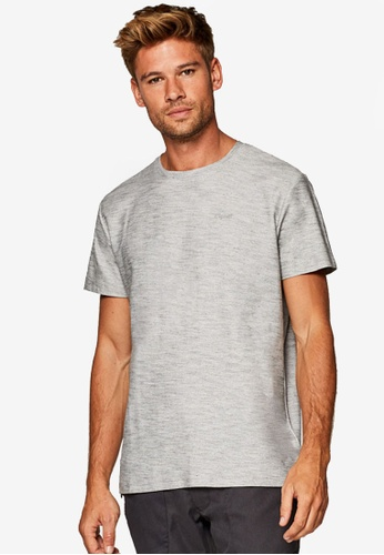 ESPRIT 灰色 品牌刺繡T恤 A87AEAA484F12DGS_1