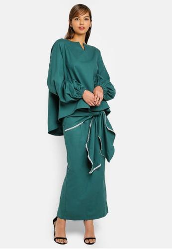 AfiqM green Kamelia Kurung BF642AA014E5CAGS_1