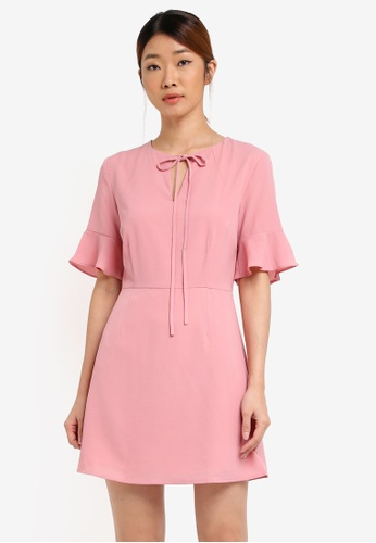 Something Borrowed pink Short Bell Sleeve A-line Dress 12A1DAA1EB71AAGS_1