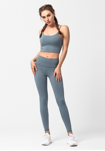 ZITIQUE green 2-Pieces Set Fitness And Yoga Sporty Pants With Sporty Bra Top - Green 98D94US31CF2A5GS_1
