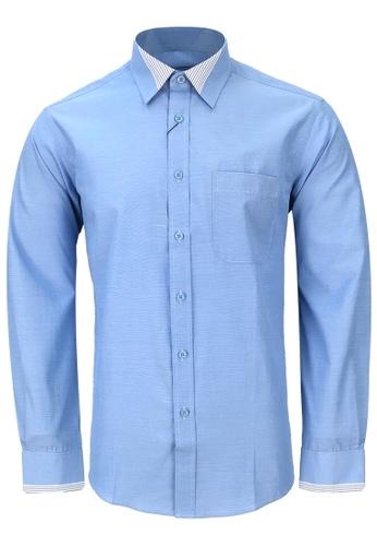 Pacolino blue Casual-Smart Long Sleeves Shirt PA995AA66CORMY_1