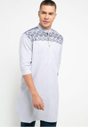Introspect clothing navy Kemeja Koko E9461AAB23D4E1GS_1