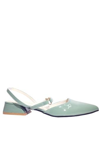 Twenty Eight Shoes green Metallic Ornament Low Heels VLR8 F0AD3SHAC230CFGS_1