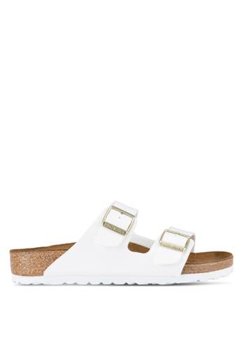 Birkenstock white Arizona Patent Color Sandals BI090SH75JQEMY_1