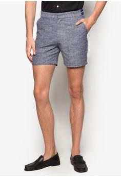 【ZALORA】 條紋邊飾棉質短褲