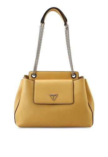 Guess yellow Sandrine Shoulder Satchel Bag FBA9CAC41ADDCFGS_1