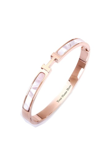 CELOVIS gold CELOVIS - Caterina Mother of Pearl Bangle in Rose Gold 2A3EBAC3464D2BGS_1