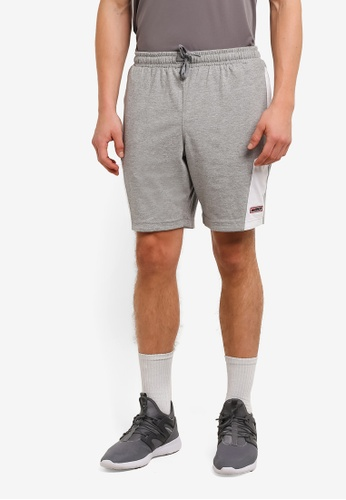 2GO grey Elasticised Waistband Performance Shorts 2G729AA0S5W3MY_1