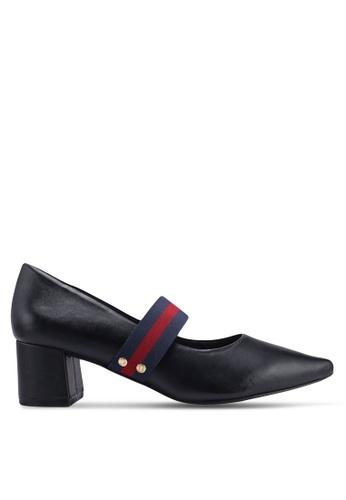 345fe2b25a1 Carlton London black Block Heel Strappy Heels 22B6ASH52DF858GS 1