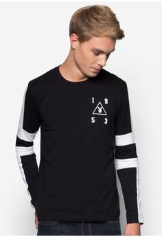 Playboy Round Neck Cut & Sew Long Sleeve T-Shirt