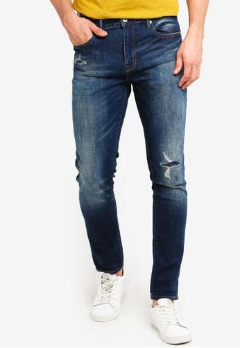 Superdry 藍色 Tyler Slim Jeans 7F229AA8397EC5GS_1
