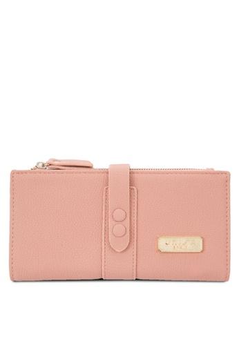 Unisa pink Pebbled Texture Bi-Fold Wallet UN821AC58EKFMY_1