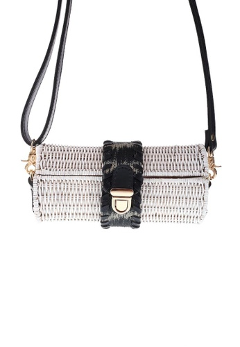 Style Cat white Style Cat Malapascua White Cylinder Wicker Bag 3B087ACACEC3B9GS_1