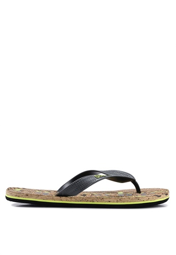 Superdry black Cork Colour Pop Flip Flops 88C4CSH85C35D1GS_1