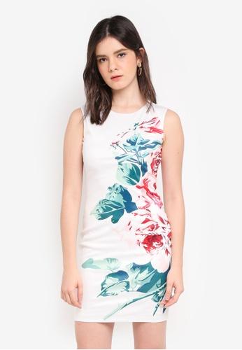 ZALORA multi Macro Floral Print Dress B325AAADC9A369GS_1