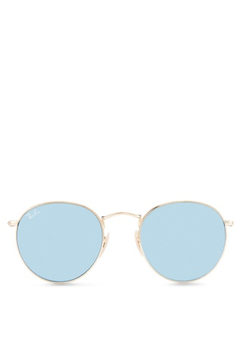 Buy Ray-Ban Round Flat Lenses RB3447N Sunglasses Online   ZALORA ... 4da8f87983bd