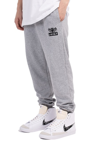 Reoparudo grey Reoparudo Feather Embroidery Sweat Pants (Grey) 12AB4AAEAB3ED9GS_1