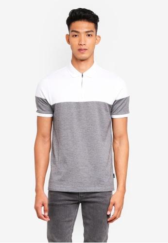 Burton Menswear London 灰色 雙色短袖POLO衫 BAFC3AAB01C1C1GS_1