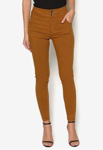 單排扣esprit tw高腰長褲, 服飾, 緊身褲