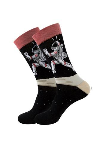Kings Collection black Running Astronaut Cozy Socks (EU38-EU45) (HS202223) 68A59AA70C32F1GS_1