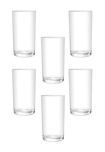 Union Glass n/a Thailand Premium Clear Glass Highball Water, Juice, Soda, Liquor Glass 255ml - 10oz Set of 6 B446AHLF8E6F53GS_1