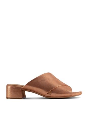 Clarks CLARKS Sheer35 Mule Copper Metallic Womens Dress Sandals B11D8SHC364177GS_1