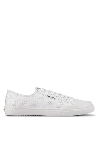 Superdry white Low Pro Luxe Sneakers 6E14BSH8920C89GS_1