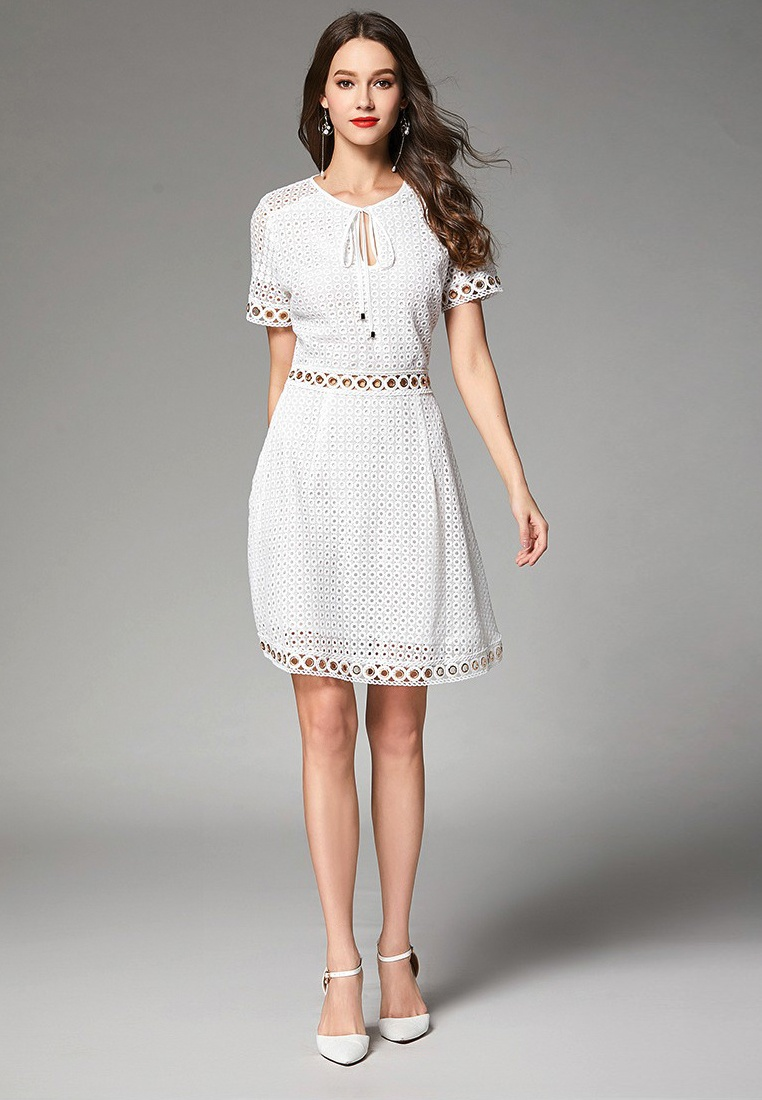 Piece Anglaise CA062936W White Broderie One Sunnydaysweety Dress 2018 White Lace New fB1RwxqA