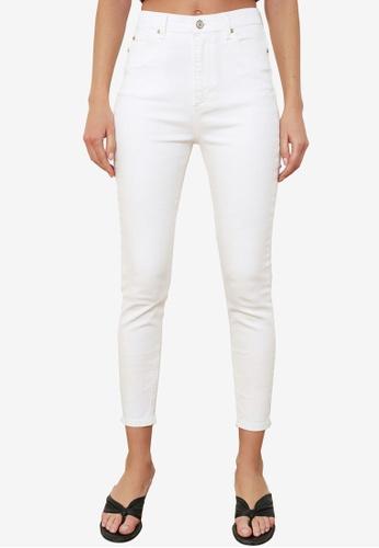 Trendyol white High Waist Skinny Jeans FA1FBAA6EF4EEDGS_1
