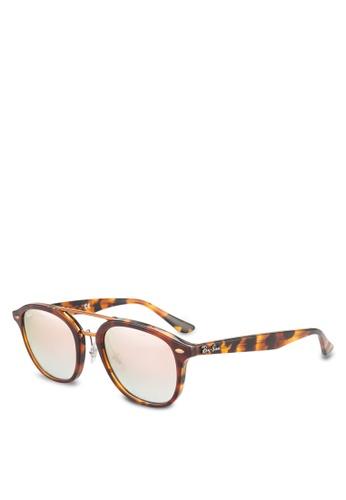 Ray-Ban 褐色 RB2183 Sunglasses RA896GL81GRYMY_1