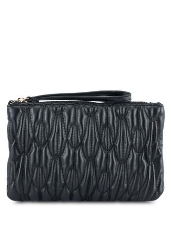 Dorothy Perkins black Quilt Wristlet Bag DO816AC0ST0JMY_1